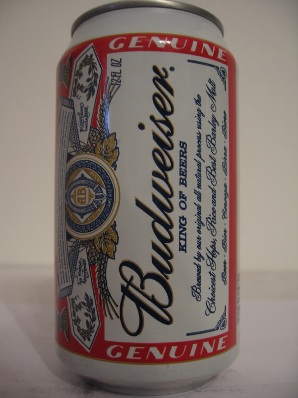 BELIZE Budweiser (AL can) side 1