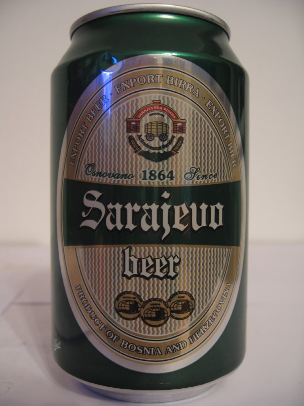 BOSNIA AND HERCEGOVINA Sarajevo beer (Al can) (B/O) (33cl) side 1
