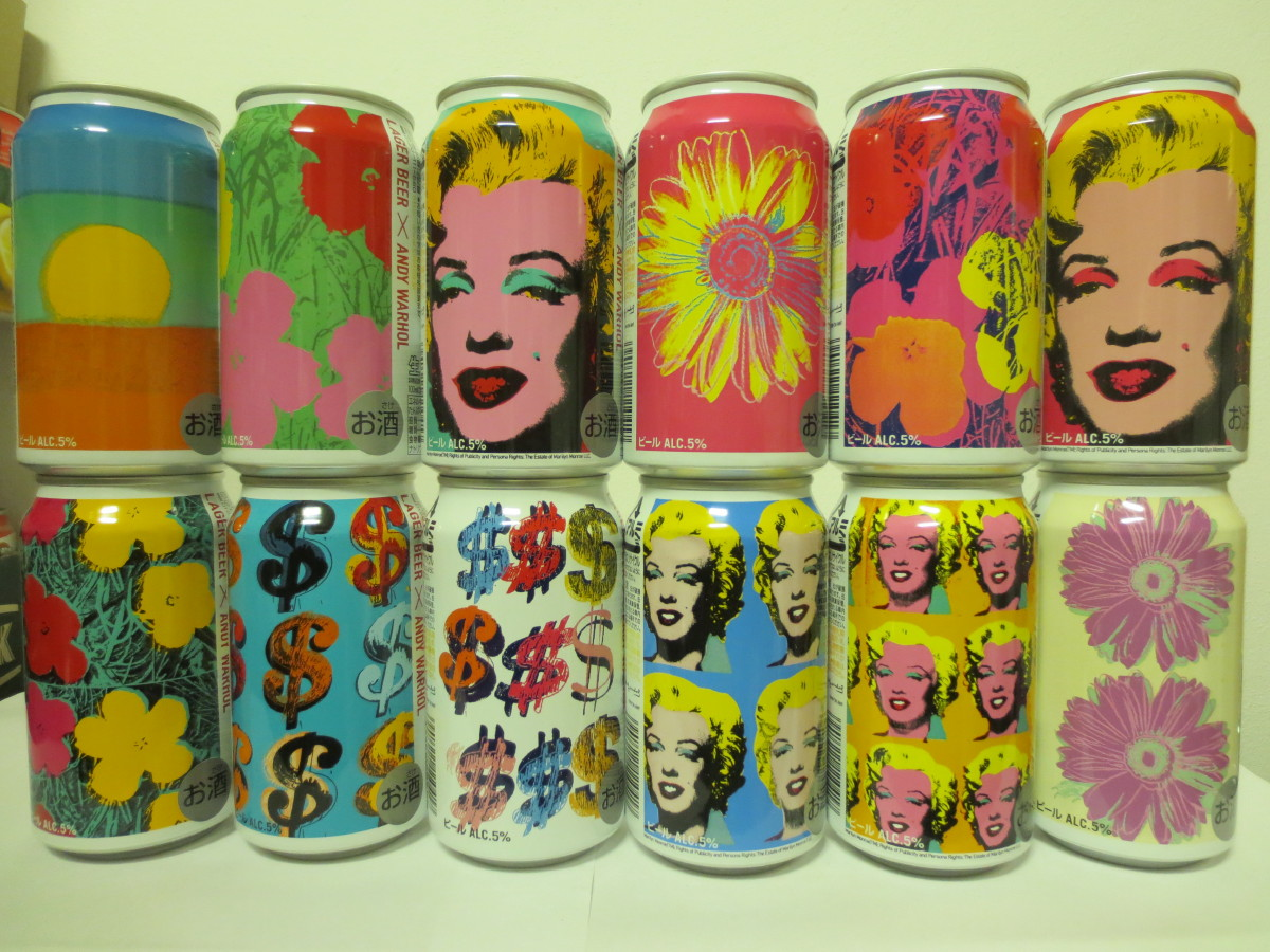 KIRIN LAGER BEER ANDY WARHOL 12 CANS SET JAPAN (35cl) (B/O)