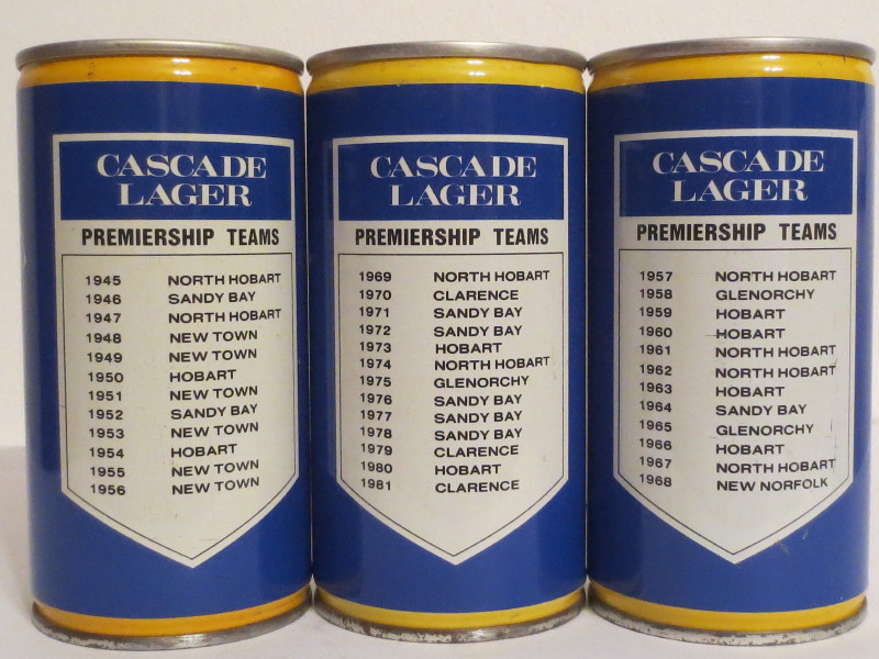 CASCADE LAGER TEAMS set from AUSTRALIA (37,5cl)