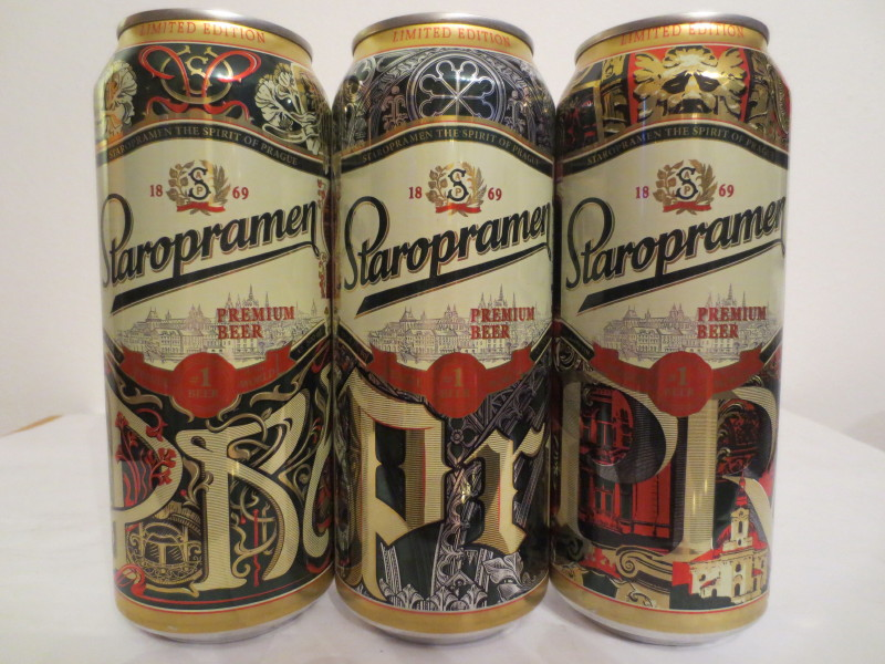 Staropramen 3 cans set export cans (T/O)